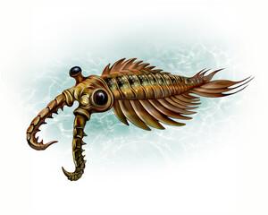 Fototapeta Anomalocaris - an extinct animal