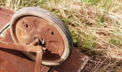Fototapeta Rdza, koło