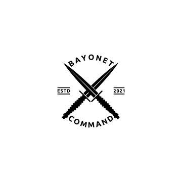 Crossed Bayonet Vintage Stylized Illustration