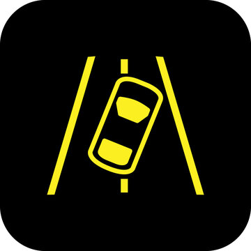Lane Departure Warning car warning light symbol