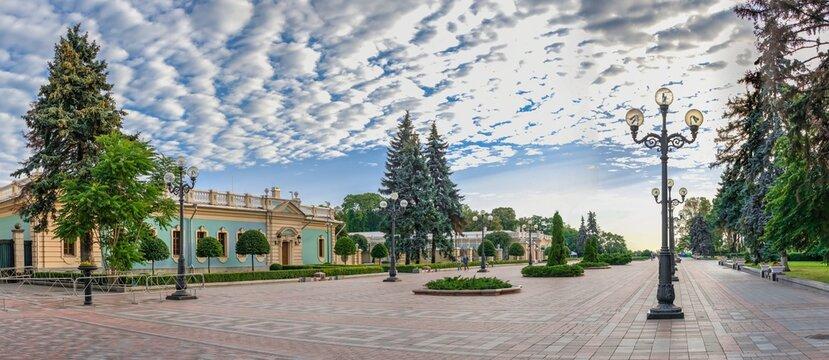 Constitution Square in Kyiv, Ukraine