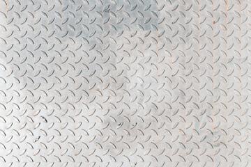 Fototapeta Non slip metal sheet plate surface texture