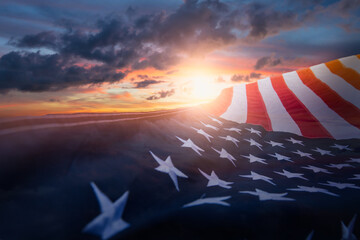 Fototapeta US American flag