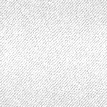 White jeans denim seamless pattern. Light jeans texture. Grey denim. Realistic vector illustration.