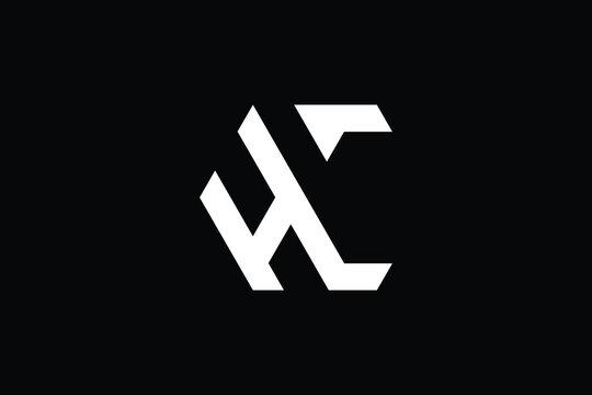 HC logo letter design on luxury background. CH logo monogram initials letter concept. HC icon logo design. CH elegant and Professional letter icon design on black background. H C CH HC