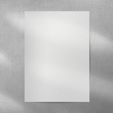 Blank white poster with copy space on the wall