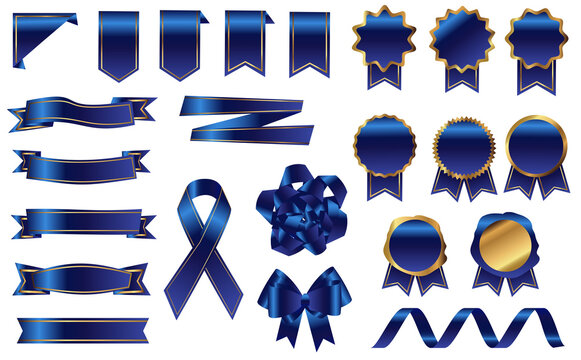 青リボン メダル セット