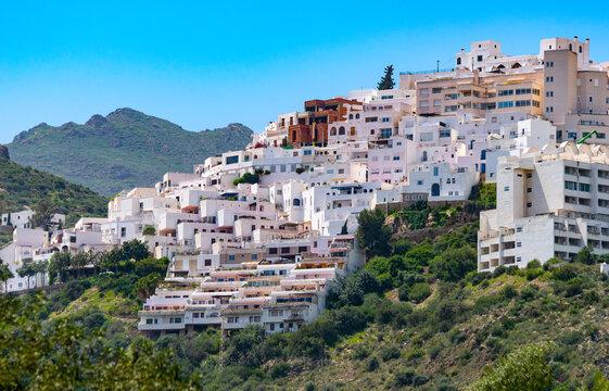 Part view of Mojacar Village, Mojacar, Almeria, Andalusia, Spain