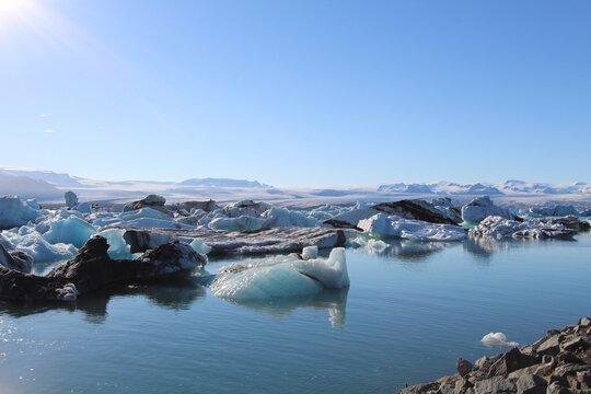 lac islandais, Islande, iceberg, glacier, jogularson, paysage , glace, froid, glace, glacial, paysage, mer, diamants, diamants , plage , gel, glace, glacé, pays, nord, sauvage, pays nordique, iceland