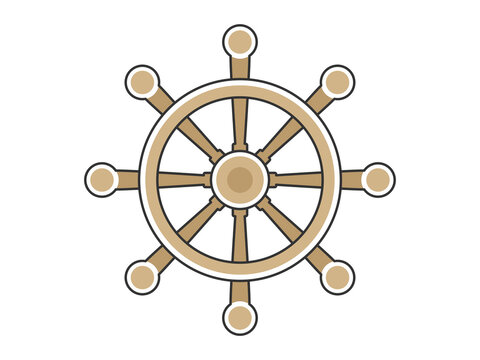 船の舵のイラスト