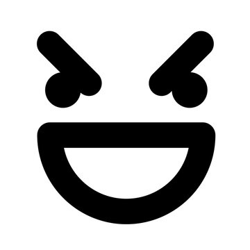 simple mean face icon