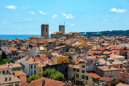 Old town of Antibes, France.