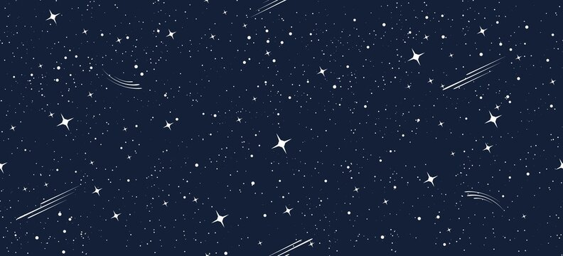Cartoon starry seamless pattern