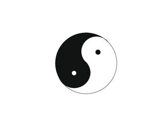 Chiński symbol harmonii pierwiastka żeńskiego i męskiego.