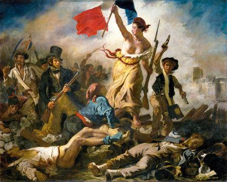 Eugene Delacroix, Liberty Leading the People, 1830, oil on canvas, Louvre Museum, Paris, France.