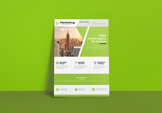 Green Business Flyer Layout