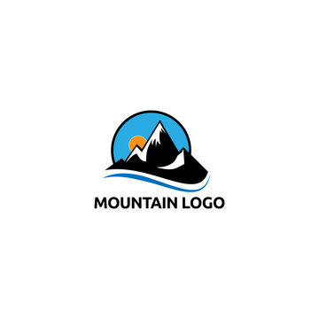 Mountain logo vector concept, icon element, and template for business
