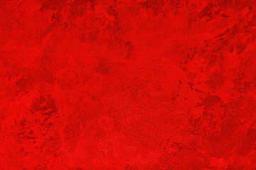 Obraz Texture of red decorative plaster or concrete. Abstract grunge background. - fototapety do salonu