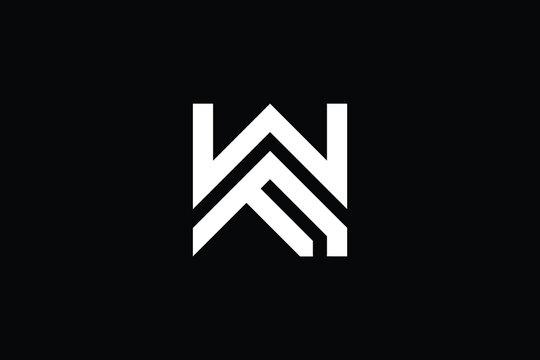 WF logo letter design on luxury background. FW logo monogram initials letter concept. WF icon logo design. FW elegant and Professional letter icon design on black background. W F FW WF