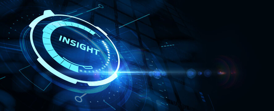 INSIGHT inscription, successful business concept. Business, Technology, Internet and network concept.