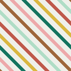 Colourful diagonal stripes flat seamless pattern. Fashionable vintage texture. Multicolour angled lines decorative background. Minimalistic wallpaper, wrapping paper, textile retro design