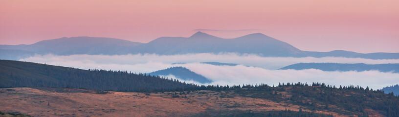 Carpathian mountains panorama