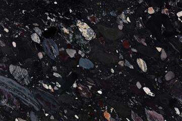 Beautiful Black Marinace - granite, stylish texture as part of your individual interior.