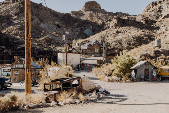 Amerika | Verlassener Oldtimer LKW in Geisterstadt