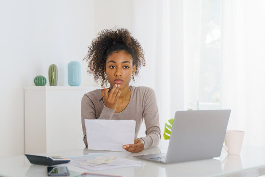African american freelancer working from home