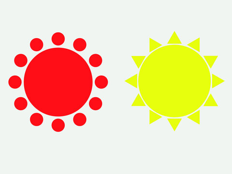 red and yellow circle