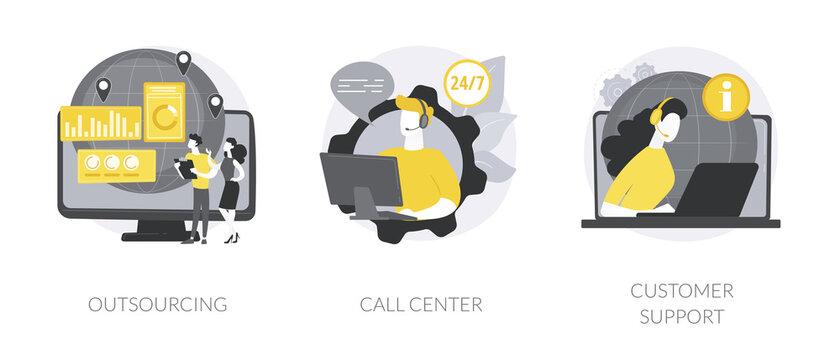 Buyer helpline abstract concept vector illustrations.