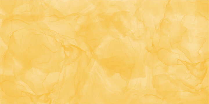 Abstract yellow marble fluid painted background. Alcohol ink or watercolor art. Editable vector texture backdrop for poster, card, invitation, flyer, cover, banner, social media post.