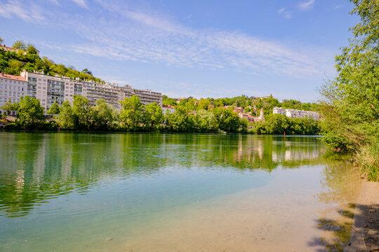 Les berges du Rhône à Lyon