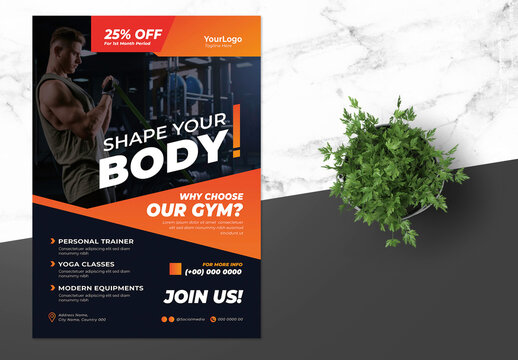 Fitness Flyer with Red  Accents