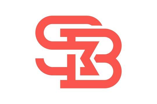modern initial letter SMB logo