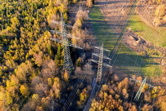 a high voltage road from above
