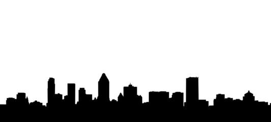 Obraz Montreal City Skyline Silhouette Illustration - fototapety do salonu