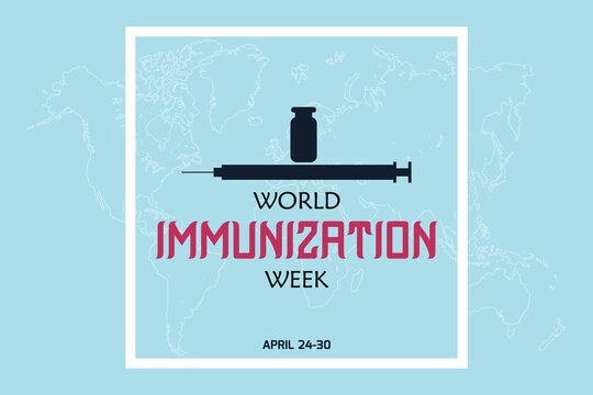 Vector illustration on the theme of World Immunization Week. World immunization day