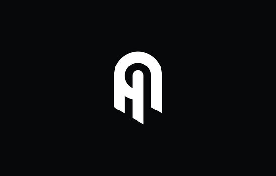 Initial based H, HH, AH, HA,  logo template. Unique monogram alphabet letters design and vector.