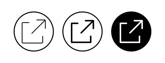 External link symbol vector icons set. Link icon. Link vector icon. Hyperlink chain symbol
