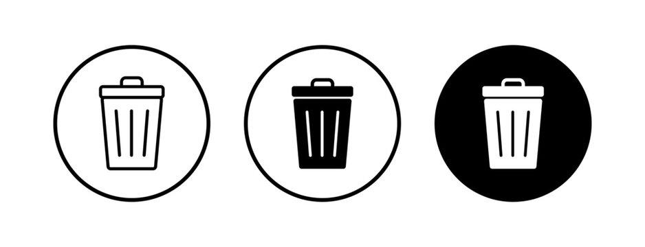 Trash icons set. trash can icon. Delete icon vector