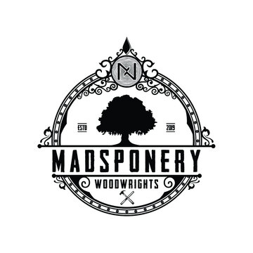 The madsponery woodwrights illustration vector