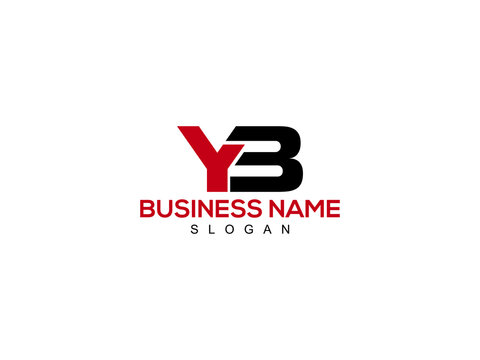 YB Letter Logo, yb logo icon vector for business
