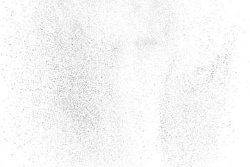 Fototapeta Distressed black texture. Dark grainy texture on white background. Dust overlay textured. Grain noise particles. Rusted white effect. Grunge design elements. Vector illustration, EPS 10. obraz