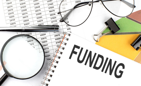 Funding - the inscription of text on the Notepad, and chart.