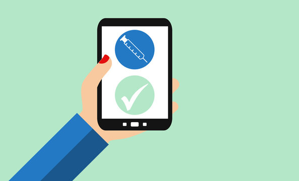 Coronavirus - Impfung oder digitaler Impfausweis mit dem Smartphone
