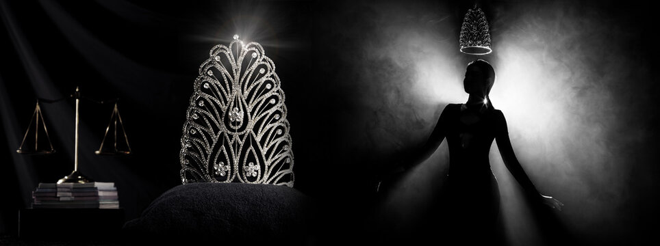 Silhouette Miss Beauty Queen Pageant Contest and win Diamond Crown
