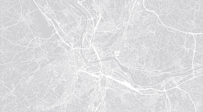 Urban vector city map of Basel, Switzerland, Europe
