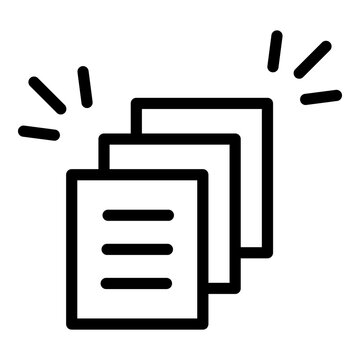 Rush job documents icon. Outline Rush job documents vector icon for web design isolated on white background