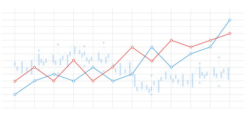 Obraz grafico economia, istogrammi, statistiche - fototapety do salonu